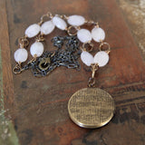 choose compassion :: locket with rose quartz