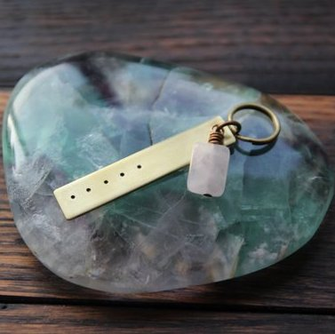 five deep breaths :: reminder key chain