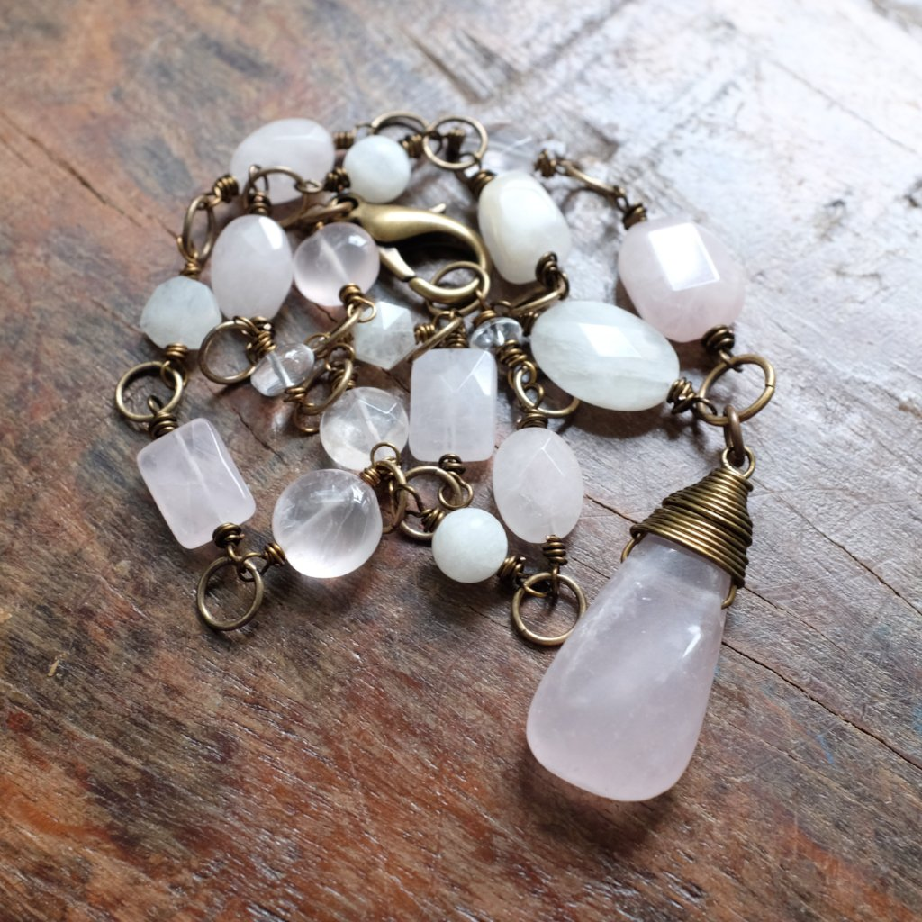 the magic of showing up in love and compassion {rose quartz and moonstone}