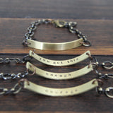 i am worthy :: secret message bracelet