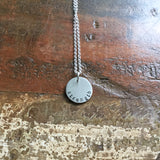 custom pewter necklace :: the and space collection