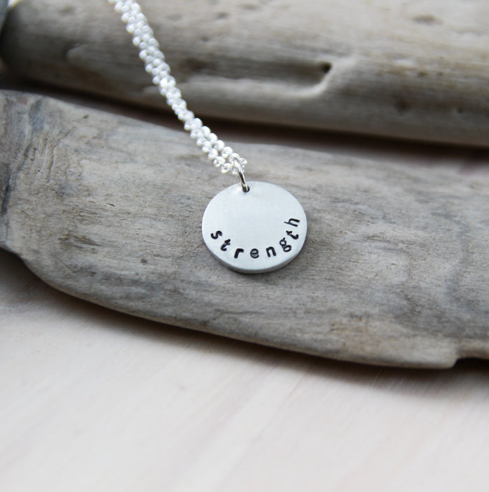 one word soul mantra necklace :: chosen just for you