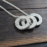 the one word washer necklace