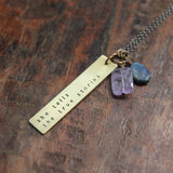 My Soul Mantra necklace with custom one word or phrase