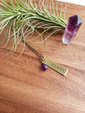 five deep breaths :: reminder necklace (tiny bar)