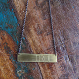 custom necklace :: be true (large)
