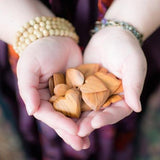 fair trade :: olive wood heart