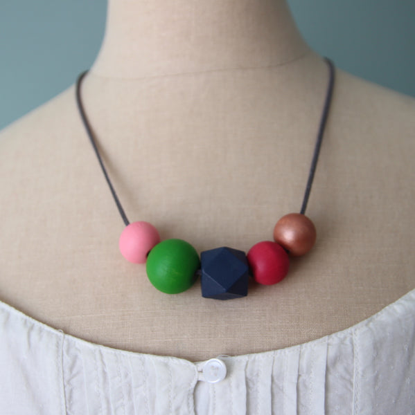 Sunday Brunch :: wooden bead necklaces for RAICES