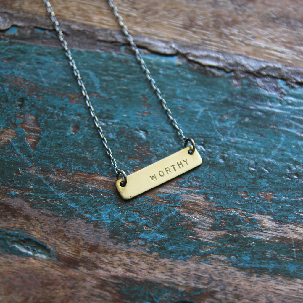 worthy :: be true necklace {tiny}