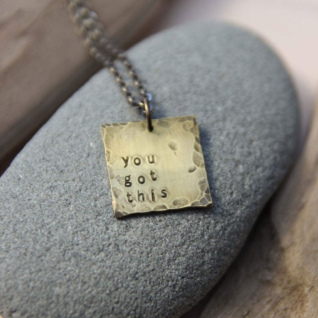 you got this :: my soul mantra necklace