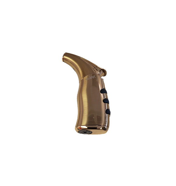 Micro Torch Gold Finish Lighter - Single Torch