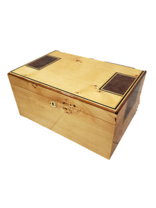 100 Count Humidor - High Lacquer Mapa Burl Finish