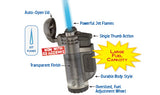 XIKAR Tech Lighter - Triple Torch - Clear