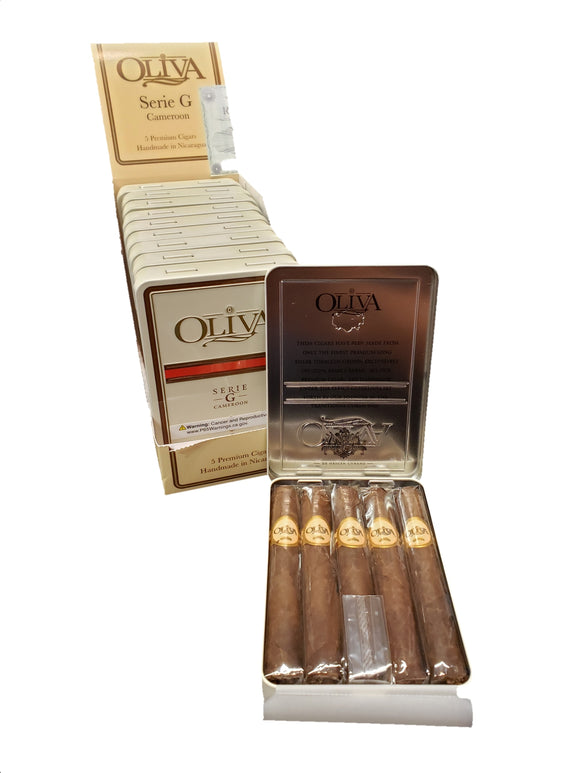 Oliva Serie G Cameroon - 4 x 38 Cigarrillo - Tin of 5