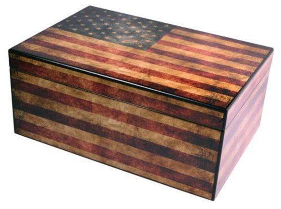 25 (up to 50) Count Humidor - Capri Old Glory