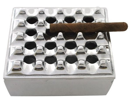 Handcrafted Polished Metal Cigar Ashtray