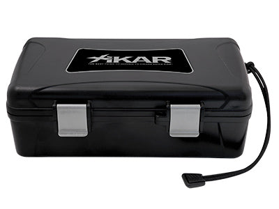 XIKAR Travel Humidor - 10 Cigars - Black