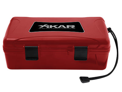 XIKAR Travel Humidor - 10 Cigars - Red