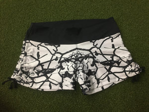 Just Go Lift SWE Black and White Tie Shorts