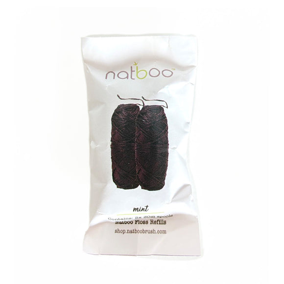 Pack of 2 spools Natboo Floss Refill- 100% Biodegradable and compostable.