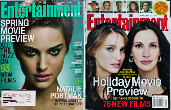 NATALIE PORTMAN Lot 2: Entertainment Weekly Magazine 864 + 792