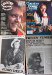 JERRY REED Lot 2: Country Song Roundup Magazine January 1980 + July 1981
