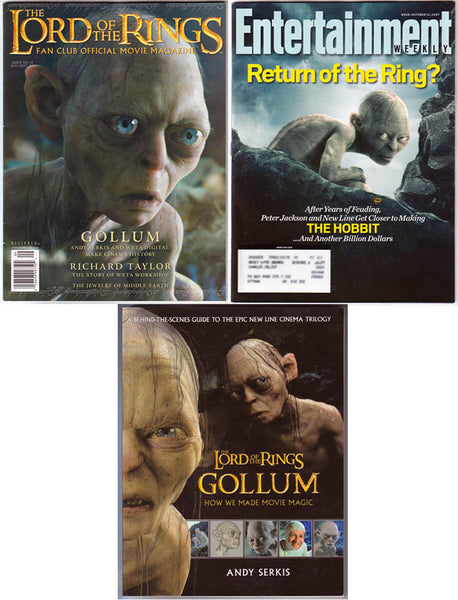 GOLLUM Andy Serkis LOTR Official Magazine 10 + Entertainment Weekly 95