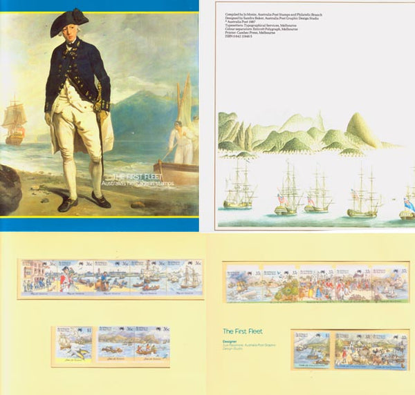 AUSTRALIA Bicentennial Stamps 1987 HMS Sirius with Booklet
