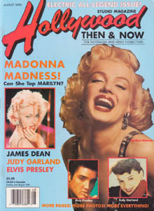 Madonna 1990 Hollywood Then Now Magazine MARILYN MONROE