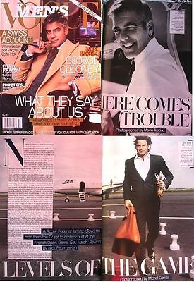 GEORGE CLOONEY Men's VOGUE ROGER FEDERER 2005 Mario Testino PREMIER ISSUE 1st