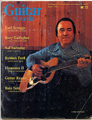 Earl Scruggs Rory Gallagher Flamenco Sal Salvador 1974 Guitar Player Magazine