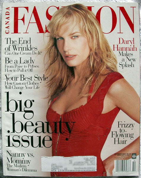 DARYL HANNAH October 2003 Canada FASHION Magazine