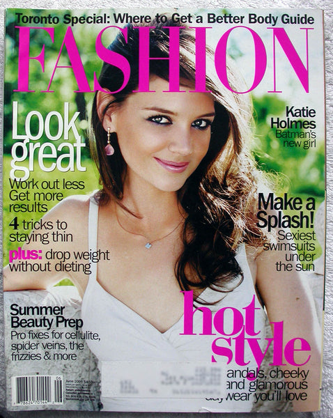 Katie Holmes June 2005 Canada Fashion Magazine Batman Begins