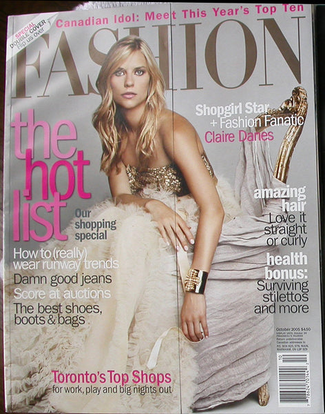 Claire Danes October 2005 Canada Fashion Magazine Shopgirl