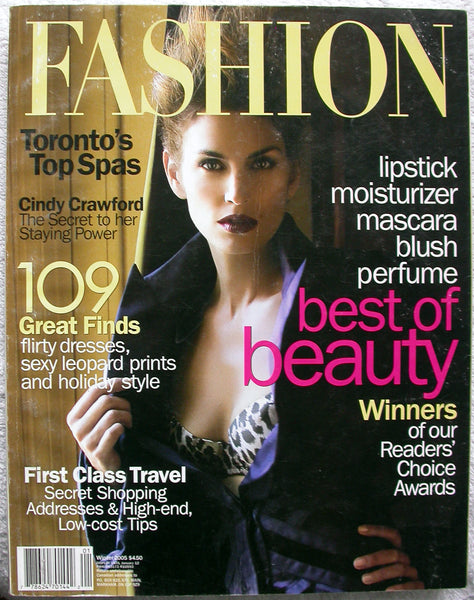 CINDY CRAWFORD Winter 2005 Canada FASHION Magazine - 7 Pages