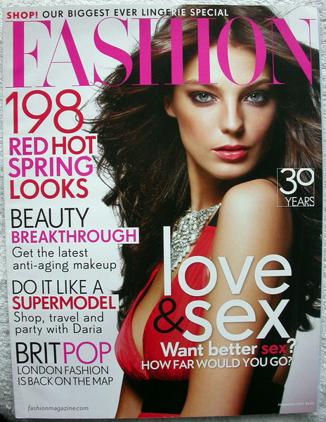 DARIA WERBOWY February 2007 CANADA FASHION Magazine