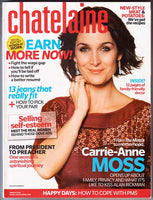 CARRIE-ANNE MOSS The Matrix March 2008 Chatelaine Magazine GABRIELLE MILLER