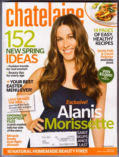 ALANIS MORISSETTE April 2008 Chatelaine Magazine
