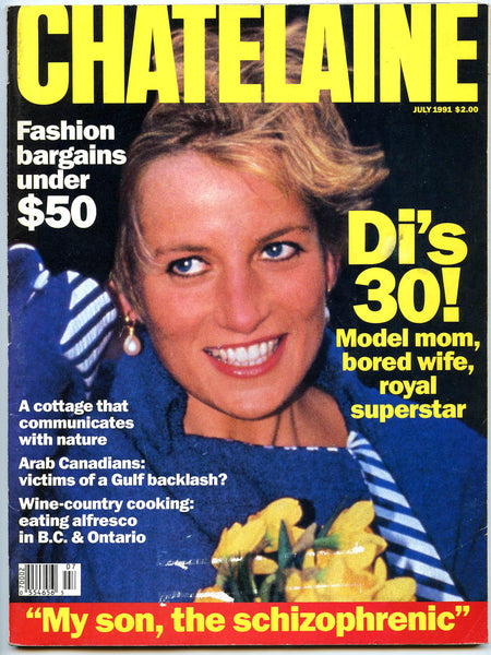 PRINCESS DIANA July 1991 Chatelaine Magazine