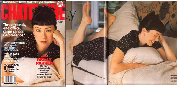 MOLLY PARKER October 1998 Chatelaine Magazine DEADWOOD KISSED