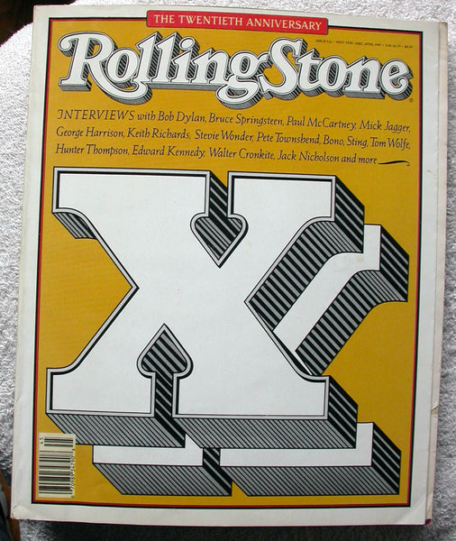 20th XX ANNIVERSARY SPECIAL 1987 Rolling Stone Magazine 512 Dylan Springsteen