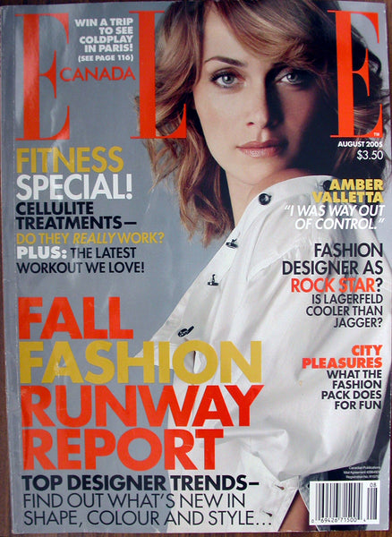AMBER VALLETTA August 2005 Elle Canada Magazine