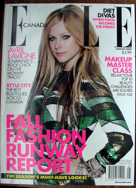 AVRIL LAVIGNE August 2009 Elle Canada Magazine 98