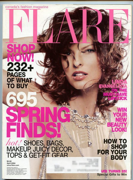 Linda Evangelista April 2004 Canadian FLARE Magazine