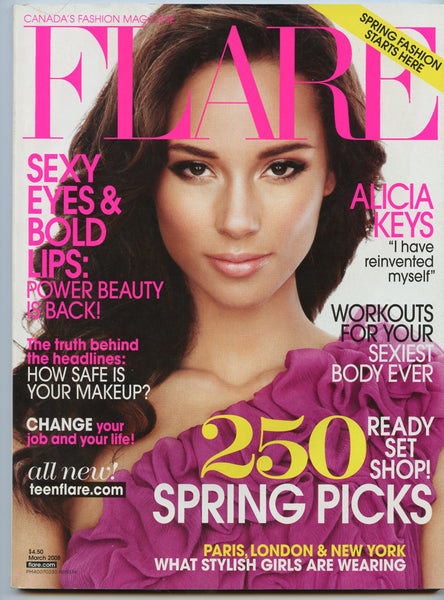 ALICIA KEYS March 2008 FLARE Magazine