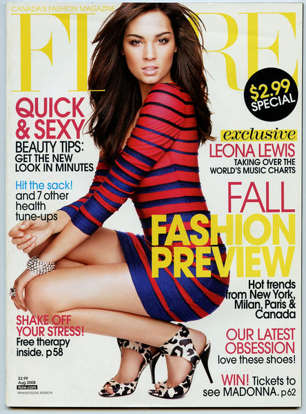 LEONA LEWIS August 2008 FLARE Magazine MIB Mint in Bag!!