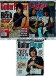 JEFF BECK Lot 3: 1990 GUITAR PLAYER Magazine + 1990 +1993 Guitar World Magazine