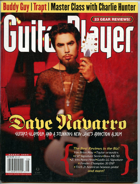 DAVE NAVARRO August 2003 Guitar Player Magazine Jane's Addiction Allman Brothers