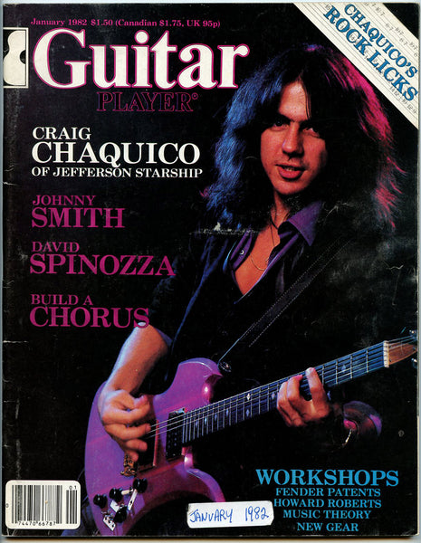 CRAIG CHAQUICO Jefferson Starship January 1982 Guitar Player Magazine