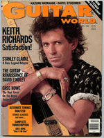 KEITH RICHARDS December 1988 Guitar Player Magazine Rolling Stones Stanley Clarke